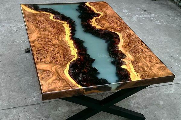 میز رزین اپوکسی و چوب