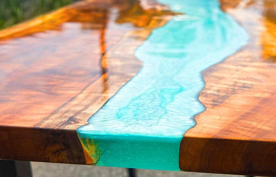 میز رزینی بسازید