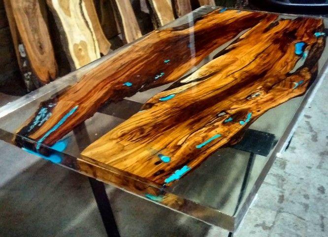 آموزش گام به گام ساخت میز چوبی با رزین اپوکسی (1) - اپوکسی کار