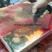 آموزش نقاشی آبستره با رزین اپوکسی - اپوکسی کار