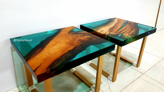 نمونه کار شده با رزین چوب U1030 - گروه اپوکسی ناول