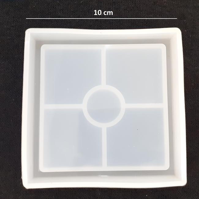 قالب سیلیکون زیرلیوانی مربع-اپوکسی کار