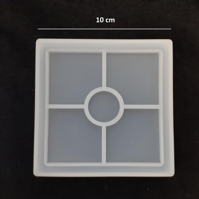 قالب سیلیکون زیرلیوانی مربع -اپوکسی کار